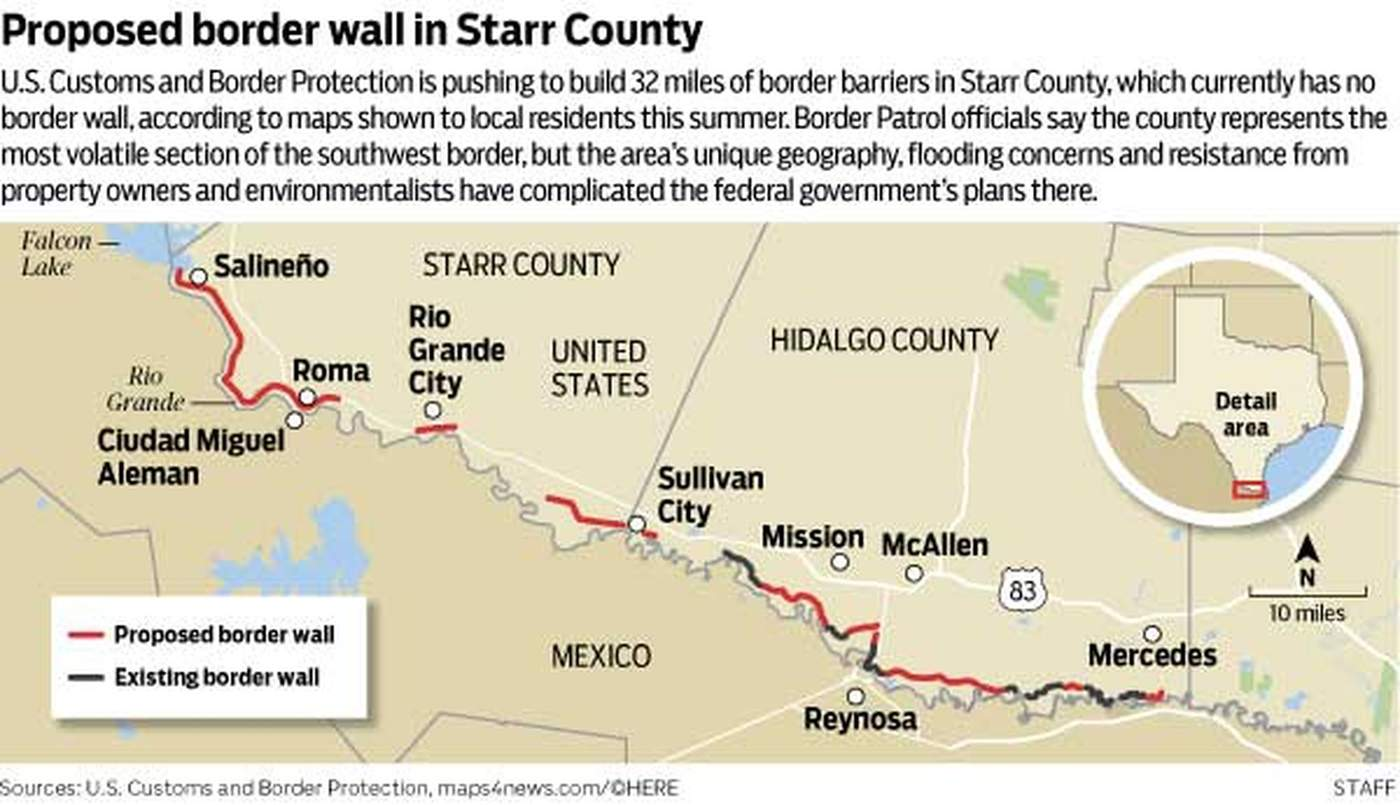Volatile Starr County is ground zero in Texas border wall debate