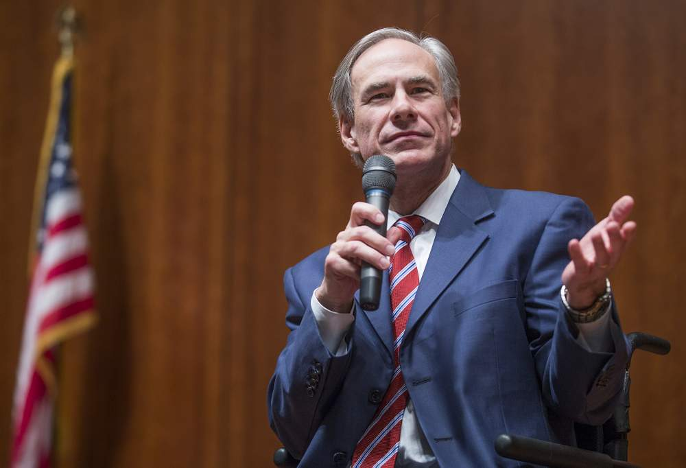 Gov. Greg Abbott speaks at the Convention of States on Dec. 6, 2016, for the legislation filing at the state Capitol.  Ricardo B. Brazziell\/American-Statesman